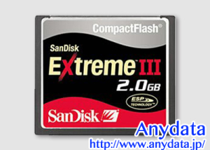Sandisk サンディスク コンパクトフラッシュ CFカード Extreme III SDCFX3-2048-903 2GB