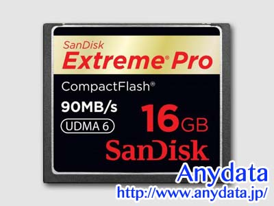 Sandisk サンディスク コンパクトフラッシュ CFカード Extreme Pro SDCFXP-016G-X46 16GB