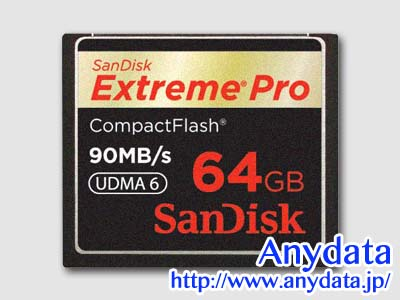 Sandisk サンディスク コンパクトフラッシュ CFカード Extreme Pro SDCFXP-064G-J91 64GB