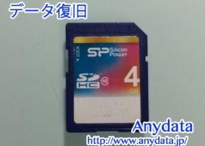 SiliconPower SDカード 4GB