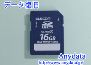 ELECOM SDカード 16GB データ復旧