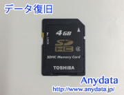 TOSHIBA SDカード 4GB