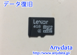 Lexar製 microSDカード 4GB