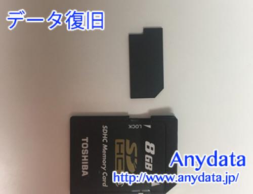 TOSHIBA SDカード 8gb(Model NO:SDL008G4)