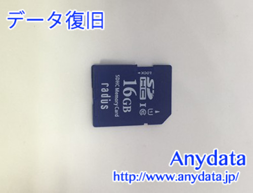 RADIUS SDカード 16gb(Model NO:RP-SDS16X)