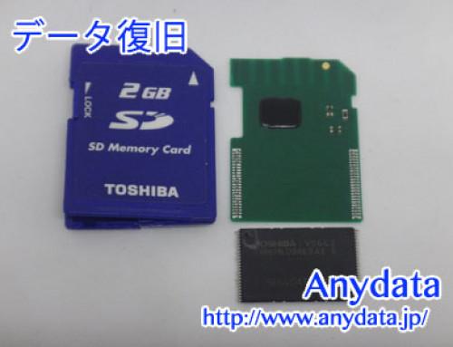 TOSHIBA SDカード 2GB(Model NO:SD-M02G-BLK)