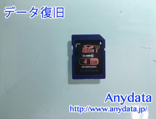 GREEN HOUSE SDカード 4GB(Model NO:GH-SDHCUB4G)
