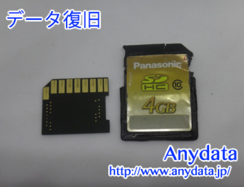 Panasonic SDメモリーカード 4GB(Model NO:RP-SDWA04GJK)