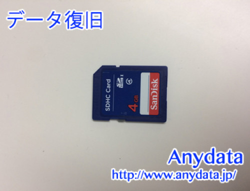 Sandisk SDメモリカード 4GB(Model NO:不明)