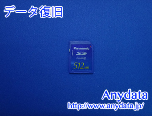 Panasonic SDメモリーカード 512MB(Model NO:RP-SDR512J1A)