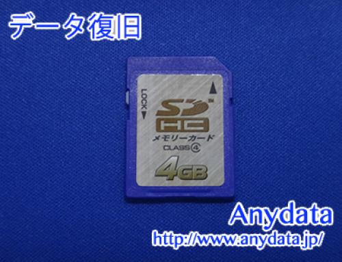 不明 SDメモリーカード 4GB(Model NO:不明)