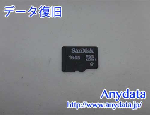 Sandisk MicroSDカード 16GB(Model NO:不明)