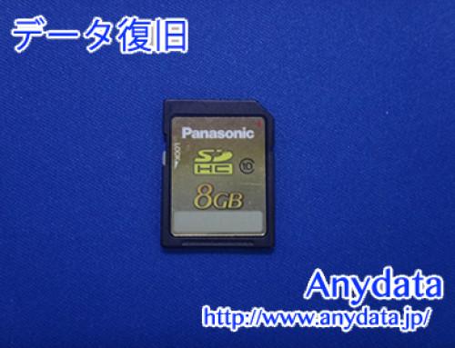 Panasonic SDメモリーカード 8GB(Model NO:RP-SDWA08GJK)