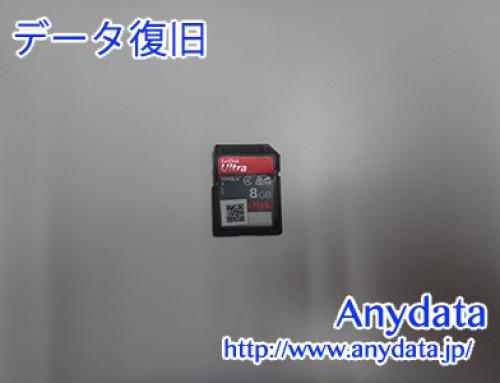 Sandisk SDカード 8GB(Model NO:SDSDH-008G-J35)
