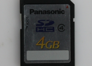 panasonic sdcard 4GB Class4
