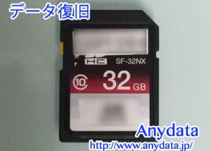 SONY SDカード SF-32NX 32GB データ復旧