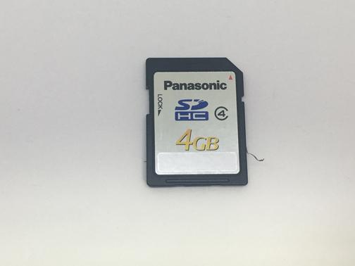 Panasonic SDカード 4GB(ModelNO:RP-SDP04G)