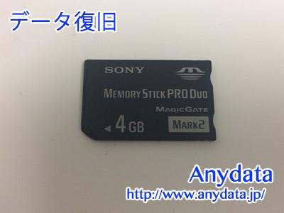 SONY メモリースティック PRO Duo 4gb(Model NO:558E057)