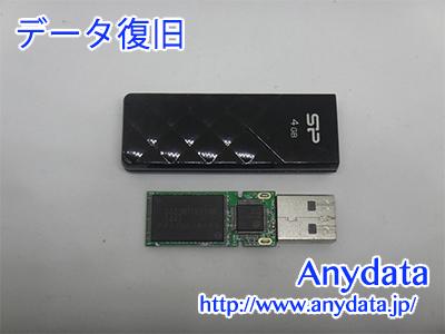 Silicon Power USBメモリー 4GB(Model NO:SP004GBUF2U03V1K)